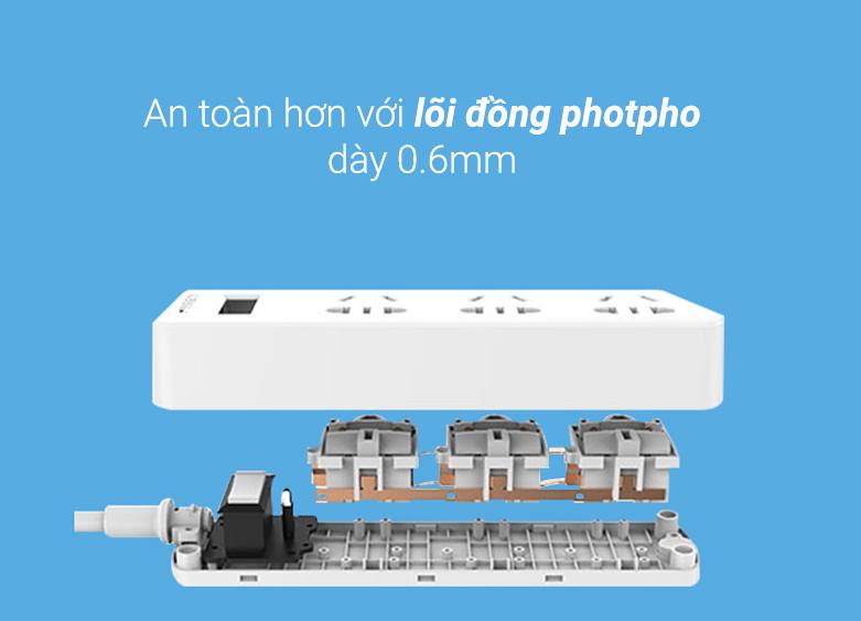 Ổ cắm điện Pisen 003(EP) | An toàn khi sử dụng