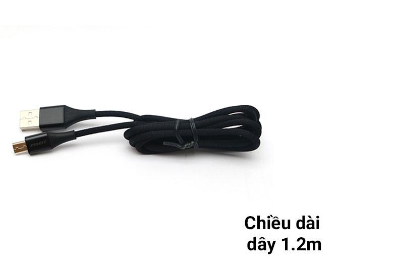 Cáp Sạc Điện Thoại PISEN Micro USB 2.4A Braided 1.2m | Chiều dài dây 1.2 m