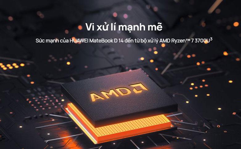 Laptop Huawei Matebook D 14 Nbl-WAP9R (AMD Ryzen 7 3700U) | Vi xử lý mạnh mẽ