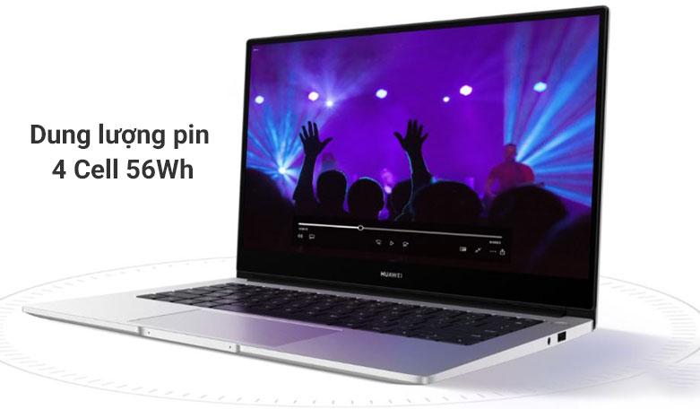 Laptop Huawei Matebook D 14 Nbl-WAP9R (AMD Ryzen 7 3700U) | Dung lương pin 4 cell 56 Wh