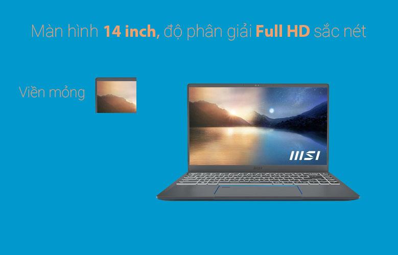 Laptop MSI Prestige 14 A11SCX 282VN | Màn hình 14 inch