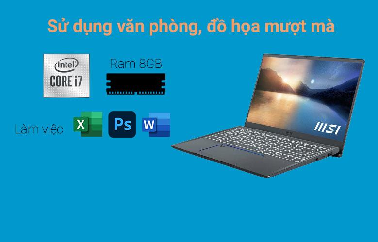 Laptop MSI Prestige 14 A11SCX 282VN | Hiệu năng mạnh mẽ