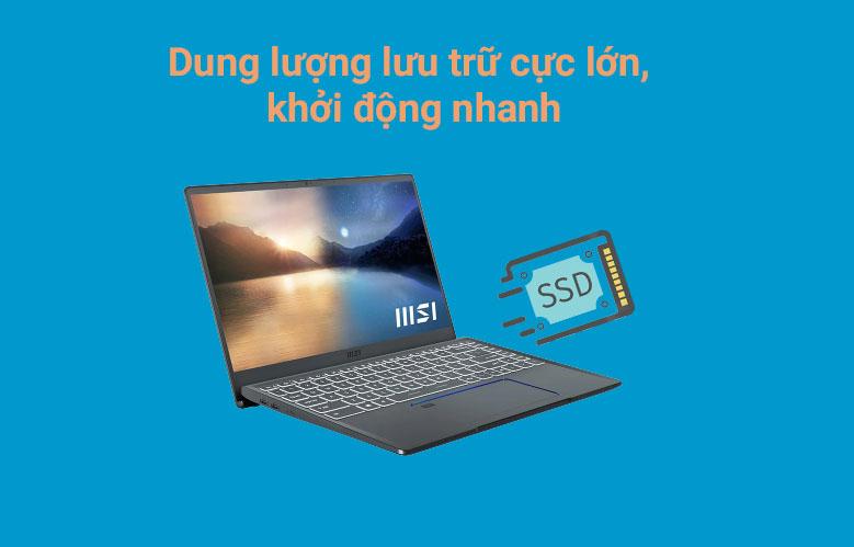 Laptop MSI Prestige 14 A11SCX 282VN | Dung lượng lưu trữu lớn