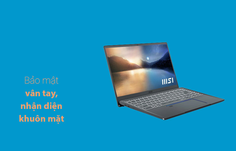 Laptop MSI Prestige 14 A11SCX 282VN | Bảo mật vân tay