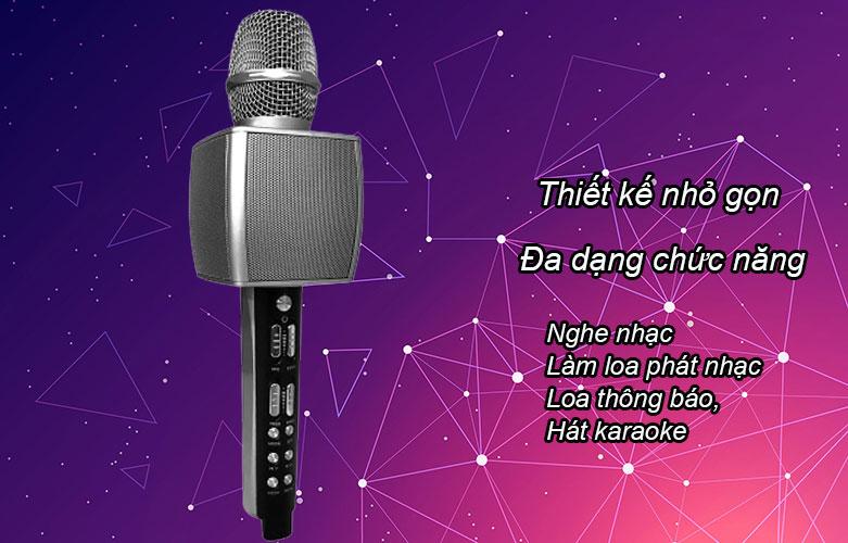 Mic karaoke YS-92 SUYOSD (Bạc) | Thiết kế nhỏ gọn