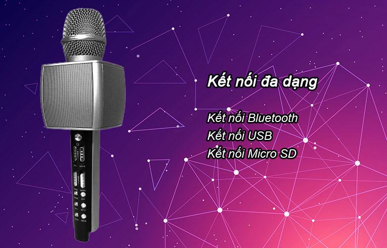 Mic karaoke YS-92 SUYOSD (Bạc) | Kết nối đa dạng