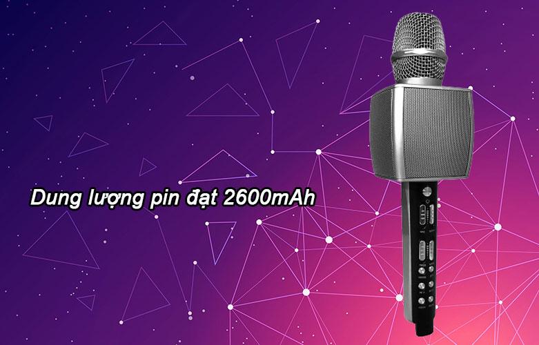 Mic karaoke YS-92 SUYOSD (Bạc) | Dung lượng pin 260mAh