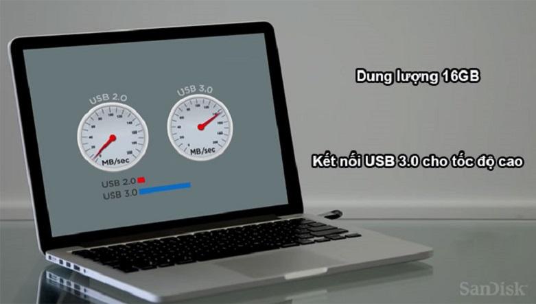 USB Sandisk 16GB (SDCZ73- G46) Ultra | Dung lượng 16 GB, Kết nối USB 3.0
