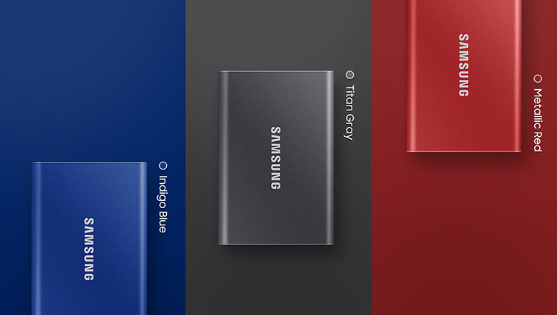 """Ổ cứng SSD Samsung Portable T7 Non Touch 500GB 2.5"""" (MU-PC500T/WW) 