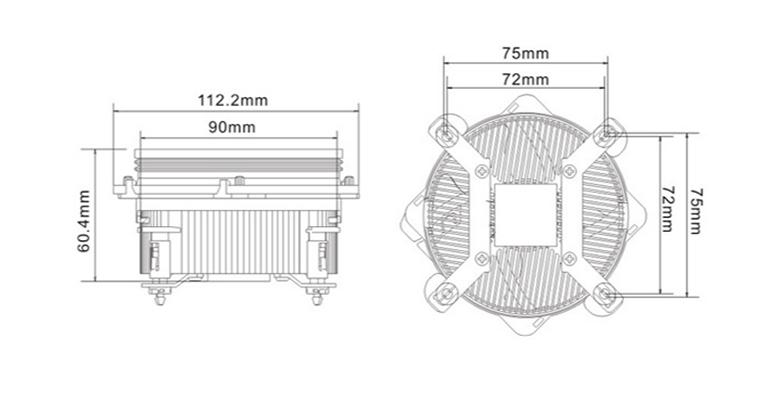 Tản khí Cooler Master XDream i117 | Kích thước phù hợp