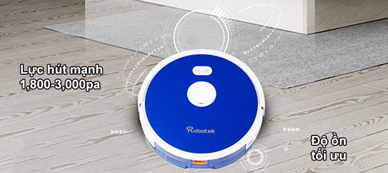 Robot hút bụi lau nhà thông minh W650 | Lực hút mạnh, Độ ồn tối ưu
