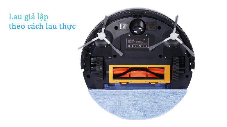 Robot hút bụi lau nhà thông minh W750   Lau giả lập theo cách lau thực