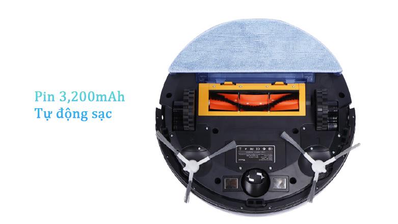 Robot hút bụi lau nhà thông minh W750   Dung lượng pin cao