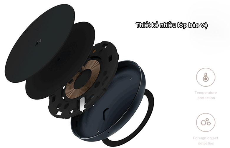 Sạc Không Dây Xiaomi Mi Wireless Charging Pad GDS4142GL | Thiết kế nhiều lớp bảo vệ