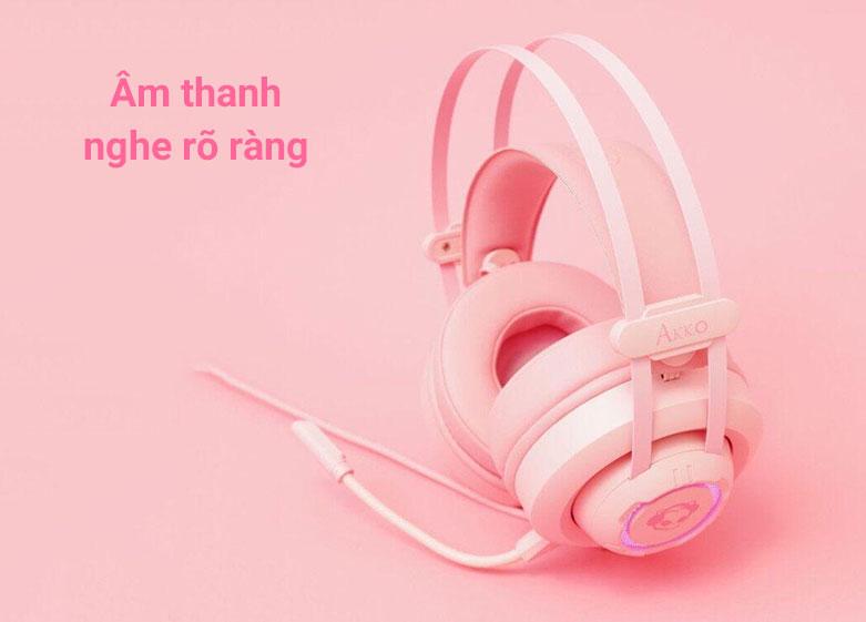 Tai nghe Akko AD701 (Hồng) là chiếc tai nghe over-ear | Âm thanh nghe rõ ràng