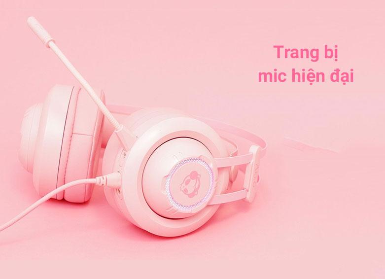Tai nghe Akko AD701 (Hồng) là chiếc tai nghe over-ear | Trang bị mic hiện đại
