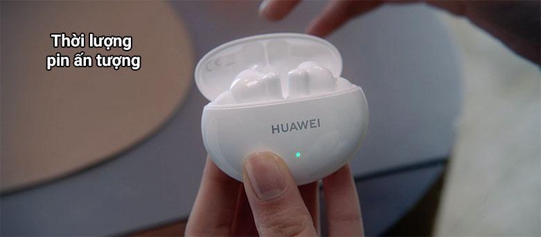 Tai nghe không dây True Wireless Huawei Freebuds 4i    Thời lượng pin ấn tượng
