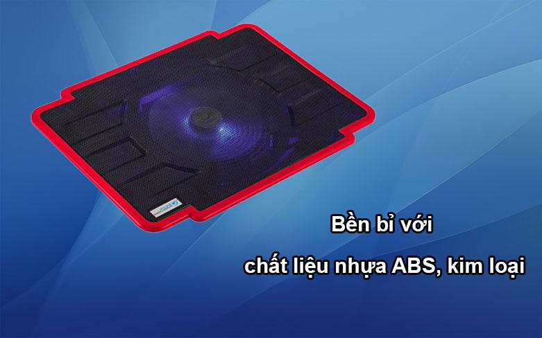Fan laptop Cool Cold 1 fan - K17 (Đỏ) | Bền bỉ chất liệu ABS