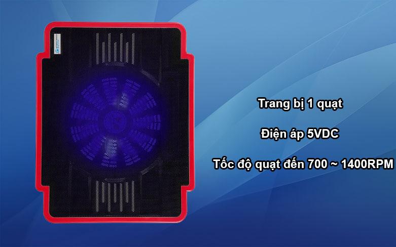 Fan laptop Cool Cold 1 fan - K17 (Đỏ) | Trang bị 1 quạt