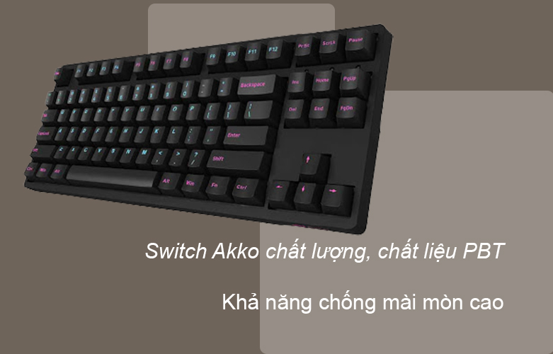 Akko 3087 DS Midnight Pink Switch   Bàn phím cơ Akko 3087 DS Midnight