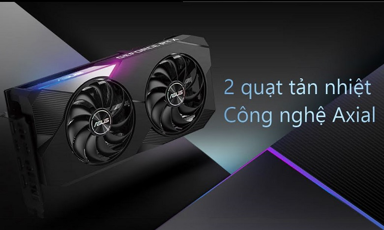 Card màn hình Asus Dual Geforce RTX 3070 8GB GDDR6 | Hiệu suất làm mát cao