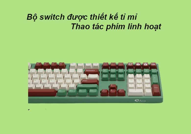 Akko 3108 v2 DS Matcha Red Bean (Akko Blue Switch V2) | Bàn phím cơ Akko 3108 v2 DS Matcha Red Bean (Akko Blue Switch V2)
