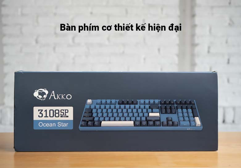 Bàn phím cơ AKKO 3108 SP (Side-printed) Ocean Star Cherry Switch (Brown) | bàn phím cơ thiết kế hiện đại