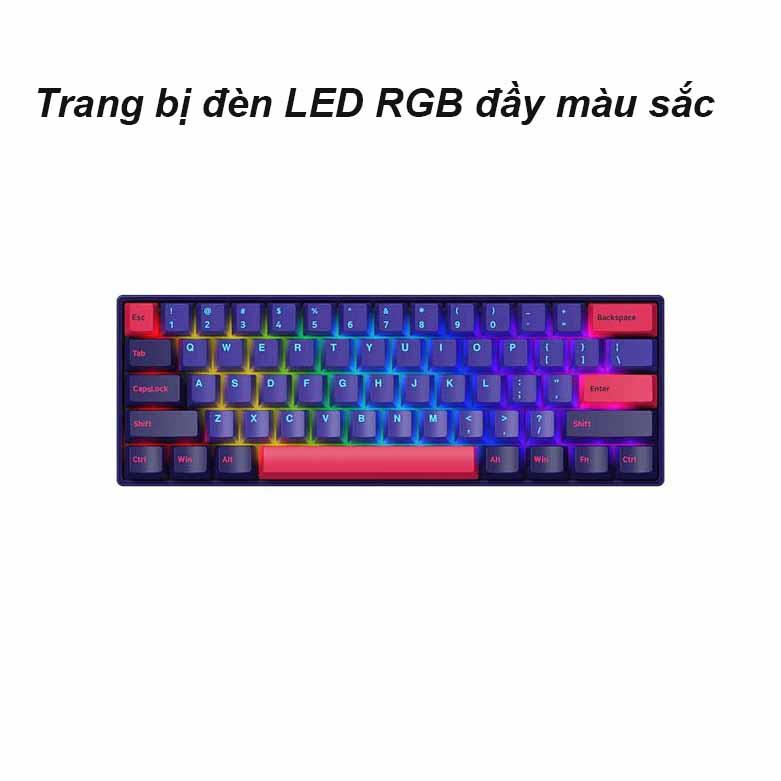 Akko 3061S Neon RGB (Gateron Pink Switch)   Bàn phím cơ Akko 3061S Neon RGB