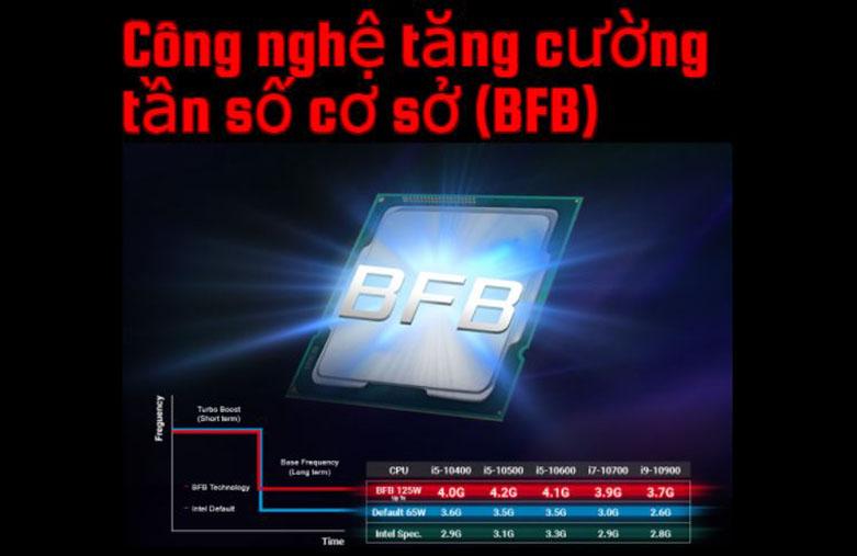 Mainboard Asrock Z490 Phantom Gaming4   Công nghệ tăng cường tần số