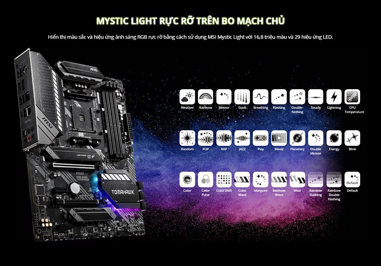 Mainboard MSI MAG B550 TOMAHAWK (911-7C91-002) | MSI Mystic Light