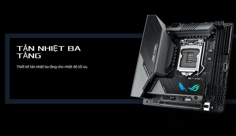 Mainboard Asus Rog Strix Z490-I Gaming   Tản nhiệt hiệu quả