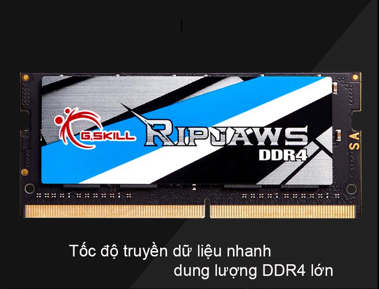 Bộ nhớ laptop DDR4 G.Skill 16GB (2666) F4-2666C19S-16GRS | Hiệu năng làm việc cao, hỗ trợ XMP 2.0 linh hoạt