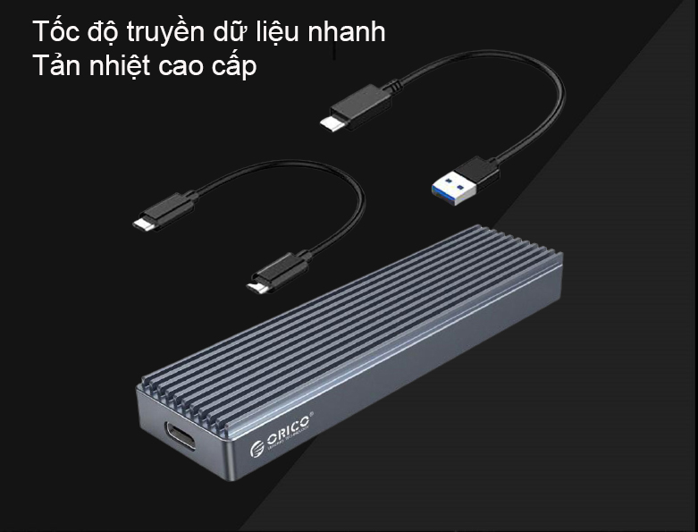 Box ổ cứng 2.5'' Orico SSD NVME M.2 M2PJ-C3-GY | Tốc độ truyền dữ liệu nhanh