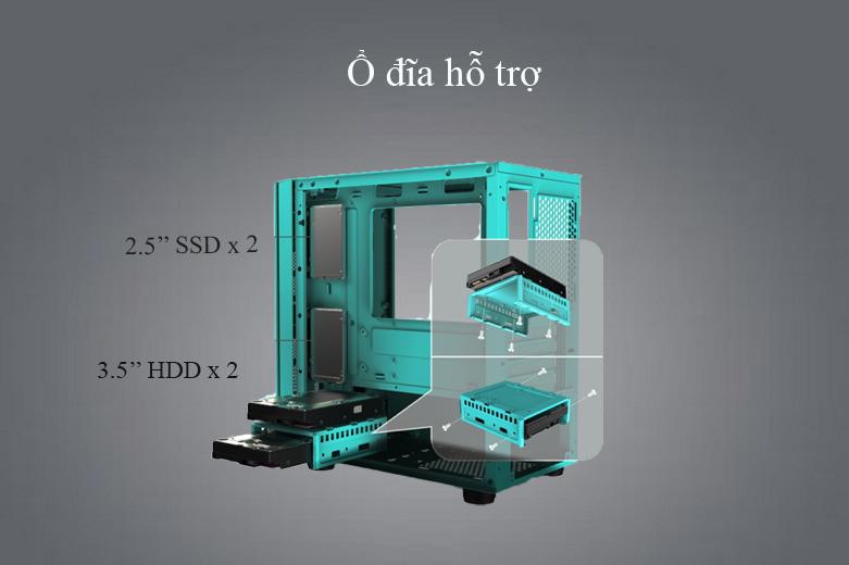 Thùng máy/ Case Xigmatek OMG Aqua EN45808 (No Fan) | Ổ đĩa hỗ trợ đa dạng