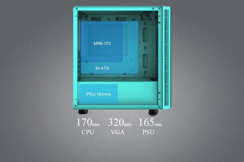 Thùng máy/ Case Xigmatek OMG Aqua EN45808 (No Fan) | Hỗ trợ quạt làm mát