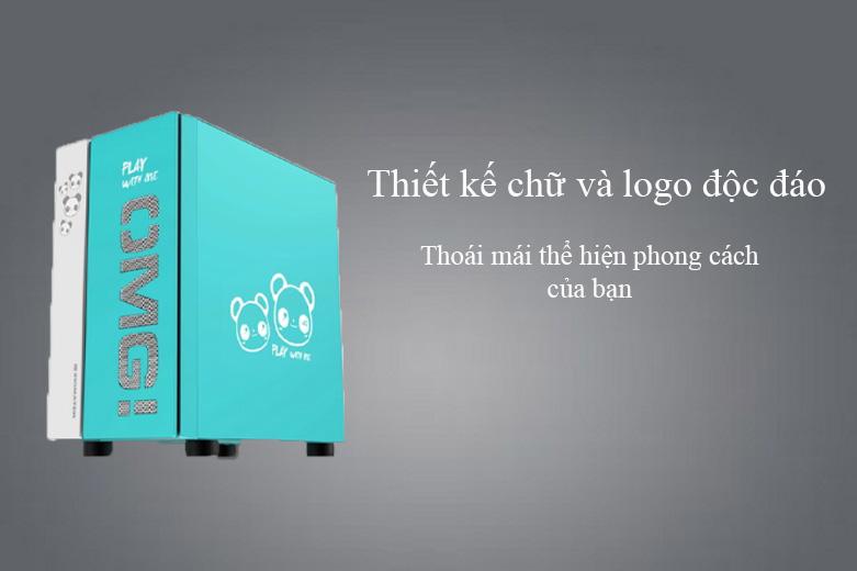 Thùng máy/ Case Xigmatek OMG Aqua EN45808 (No Fan) | Thiết kế chữ và logo độc đáo