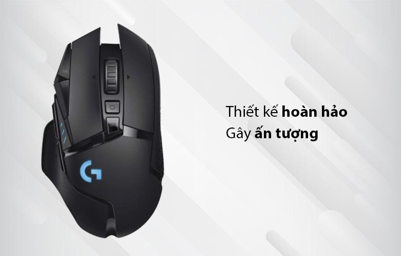 Chuột máy tính gaming không dây Logitech G502 Lightspeed (Đen) | Kiểu dáng thiết kế hoàn hảo, gây ấn tượng