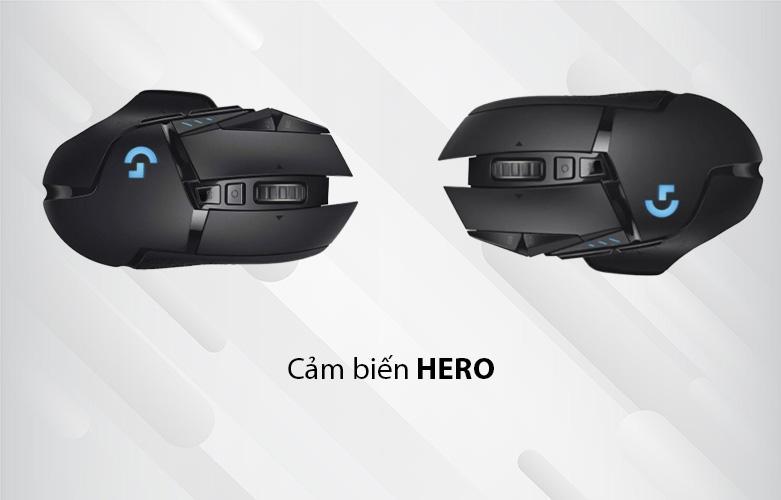 Chuột máy tính gaming không dây Logitech G502 Lightspeed (Đen) | Cảm biến HERO