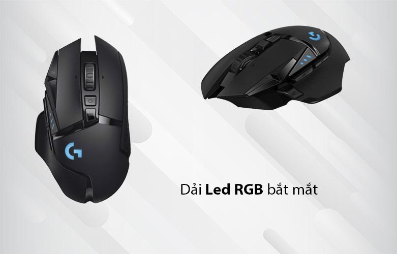 Chuột máy tính gaming không dây Logitech G502 Lightspeed (Đen) | dải Led RGB 16.8 triệu màu