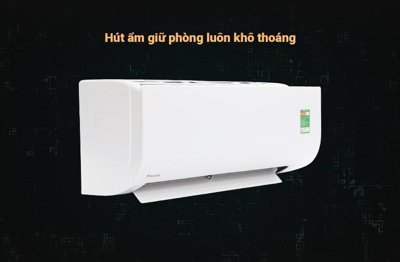Máy lạnh Daikin 1.5 HP ATF35UV1V | Hút ẩm giữ phòng luôn khô thoáng