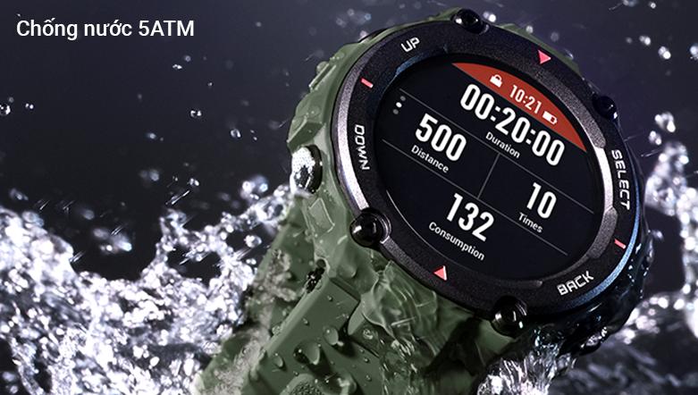 Đồng hồ thông minh AMAZFIT T-REX ROCK BLACK   chống nước 5ATM tối ưu