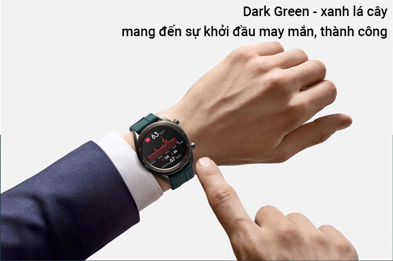 Đồng hồ thông minh HUAWEI GT DÂY SILICONE (Dark Green) | Mang đến sự khởi đông may mắn