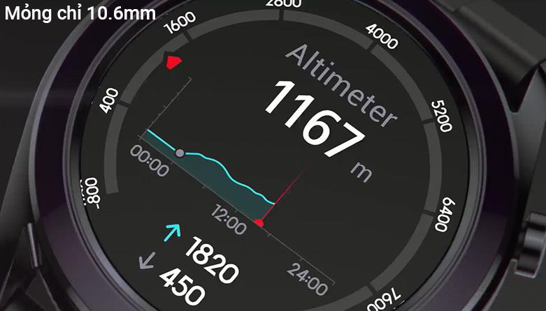 Đồng hồ thông minh HUAWEI GT DÂY SILICONE (Dark Green) | Thiết kế mỏng