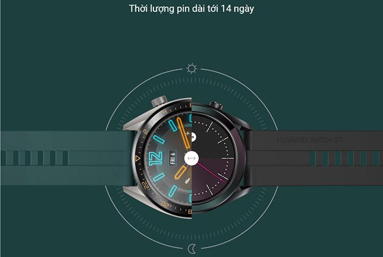 Đồng hồ thông minh HUAWEI GT DÂY SILICONE (Dark Green) | Thời lượng sử dụng lâu