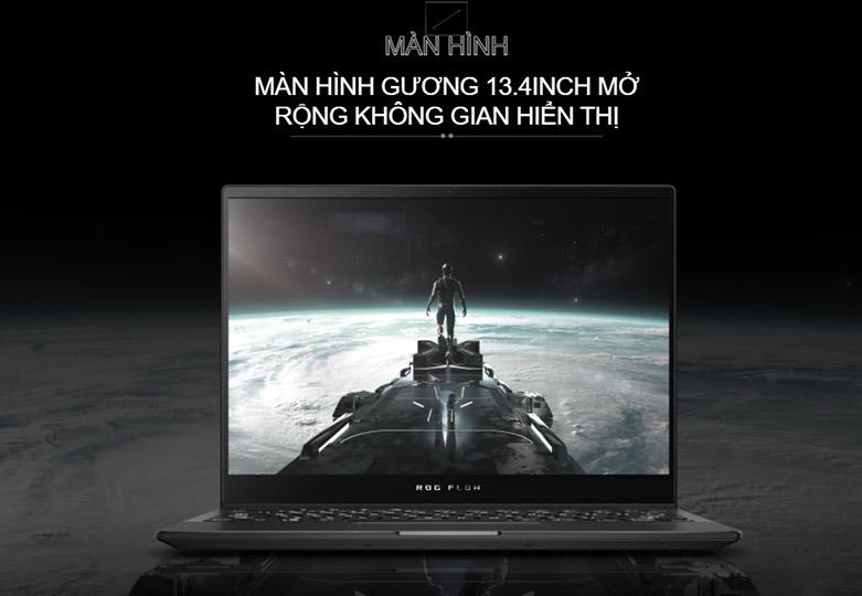 Laptop ASUS ROG Flow X13 GV301QH- K6054T   Màn hình gương kiểu dáng mới