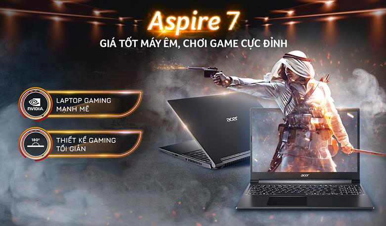 Laptop Acer Aspire 7 A715-41G-R282 (NH.Q8SSV.005) | Thiết kế tinh tế