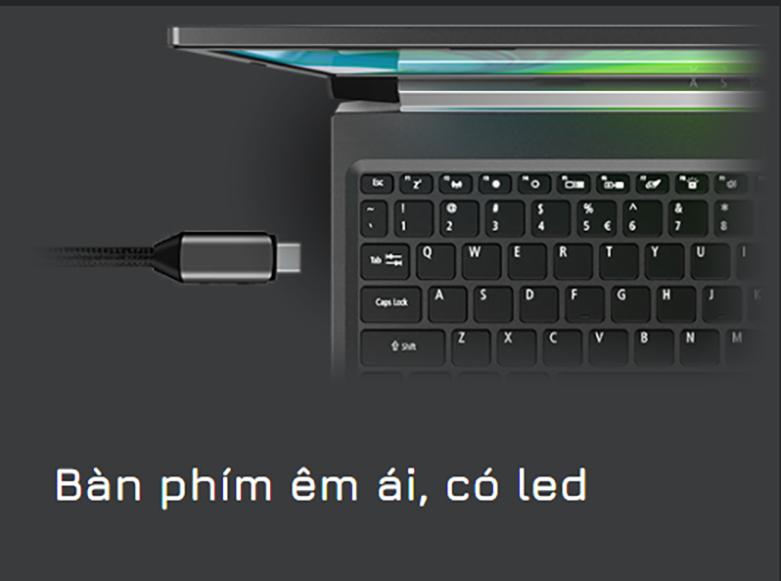 Laptop Acer Aspire 7 A715-41G-R282 (NH.Q8SSV.005) | Bàn phím thường có led