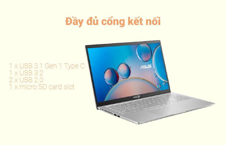 Laptop Asus D515UA-EJ082T (AMD Ryzen 7 5700U) (Xám) | Đầy đủ cổng kết nối