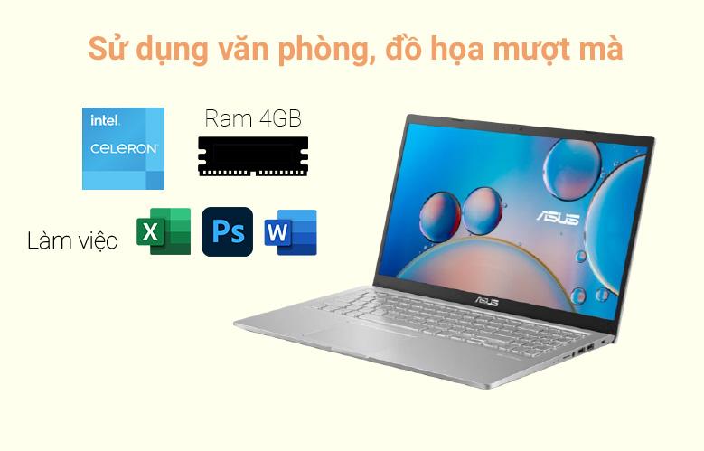 Máy tính xách tay Asus Vivobook X515MA-BR112T (N4020) (Bạc) | Sử dụng văn phòng mượt mà