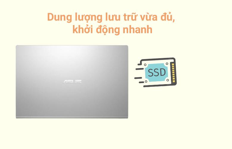 Máy tính xách tay Asus Vivobook X515MA-BR112T (N4020) (Bạc) | Dung lượng lưu trữ vừa đủ